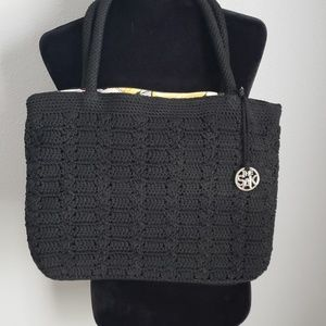 Black Crocheted Purse by the Sak